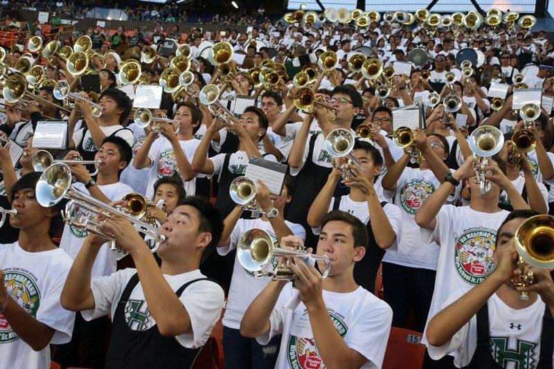 University of Hawai'i Bands JrSrNight32